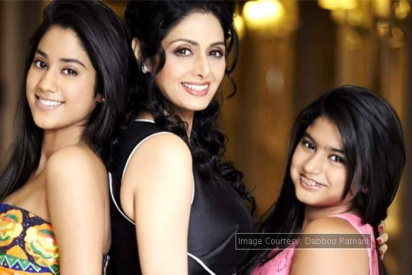 9 super celebrity bollywood moms with their kids sridevi with daughters jhanvi and khushi