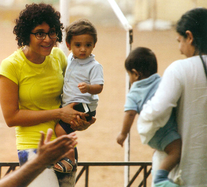 9 super celebrity bollywood moms with their kids kiran rao with son azaad