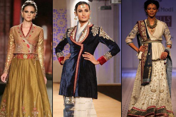 Accentuate with angrakha blouse design