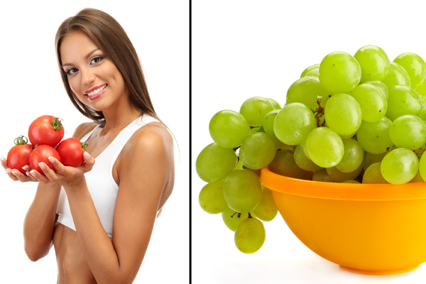 Tomato and Grapes
