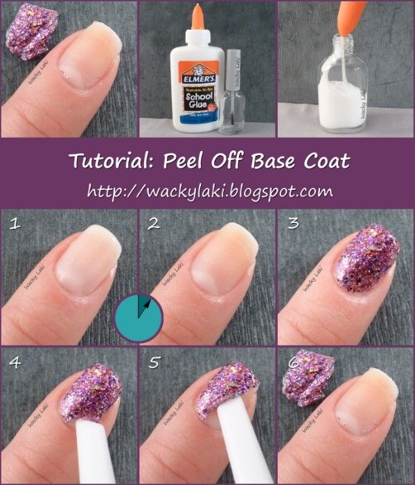 Remove glittery nail polish in seconds