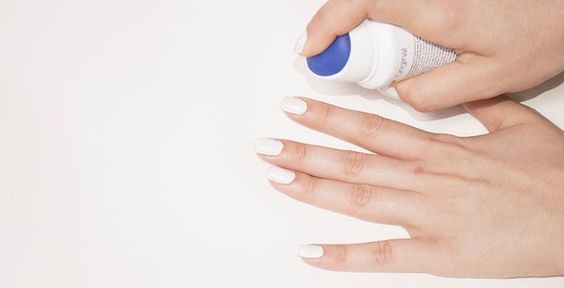 Use deodorant to remove nail polish