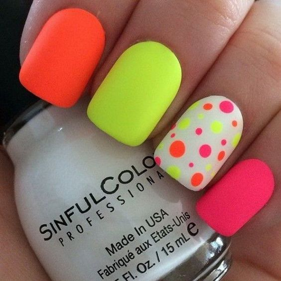 Get neon nail polish pop out
