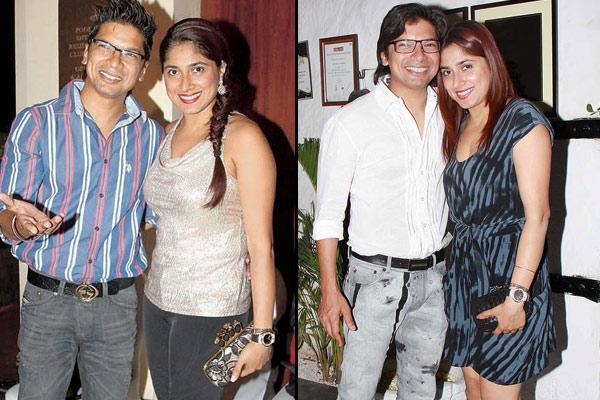 Shaan with his wife Radhika