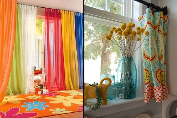 colourful curtains for home decor