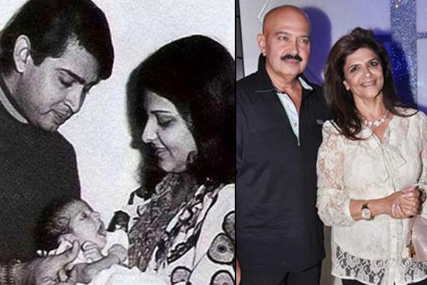 Rakesh Roshan and Pinky