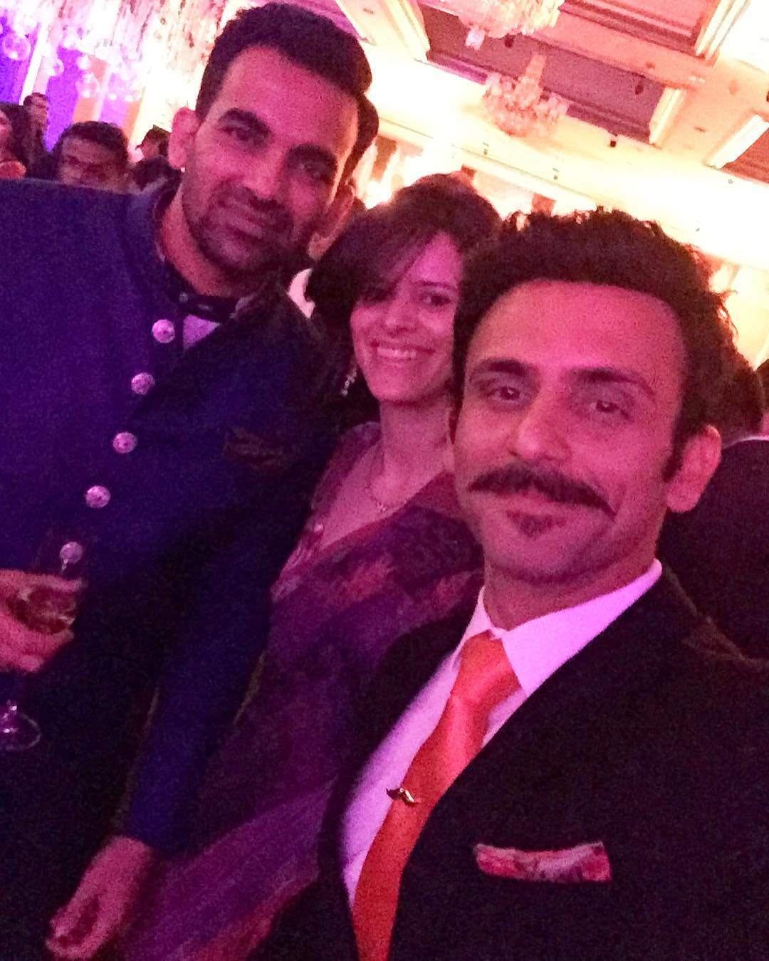 Zaheer Khan Sagarika Ghatge Reception Party