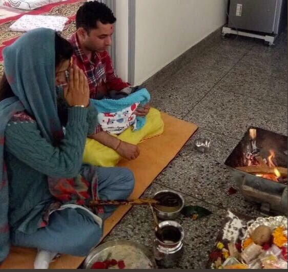 Kangana Sister Rangoli's Son Prithviraj Ceremony