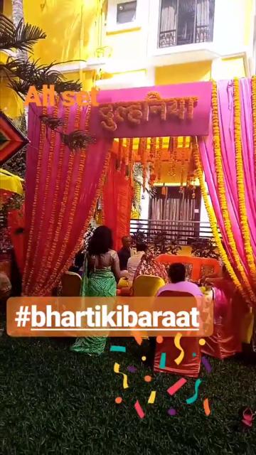 Bharti And Haarsh Pooja Ceremony