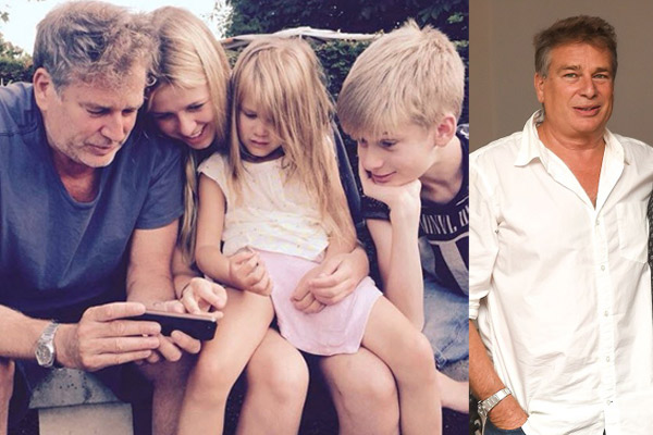 Karan Kapoor with wife Lorna and children