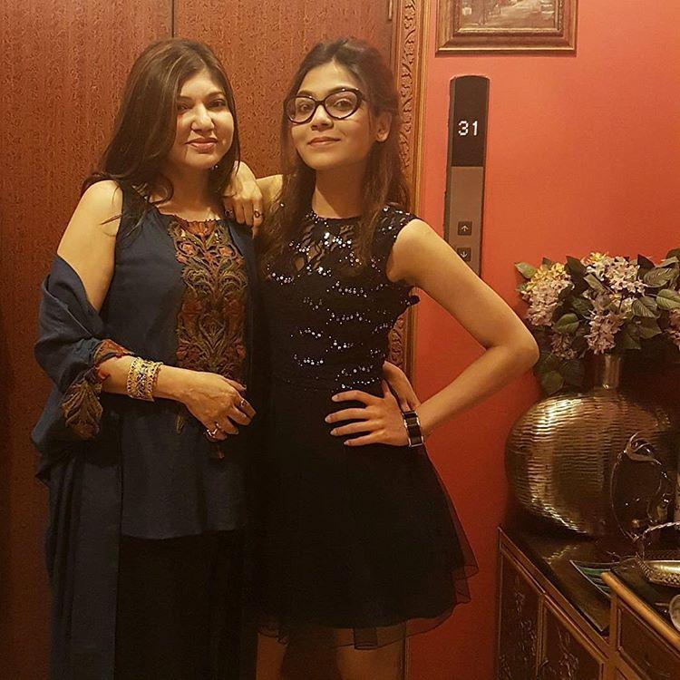 Alka Yagnik and Syesha Kapoor