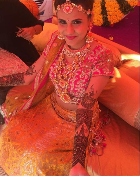 Vrinda Dawda Wedding Mehendi Design
