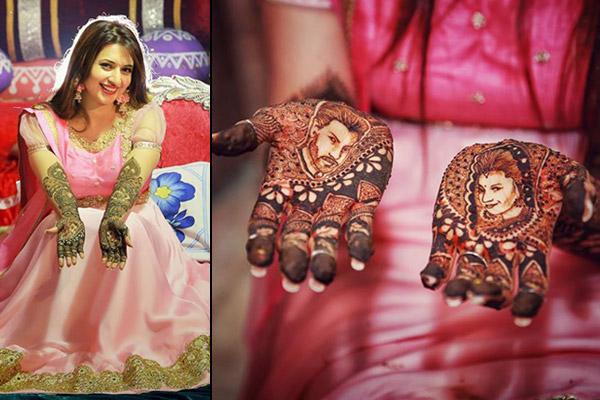 Divyanka Tripathi Wedding Mehendi Design