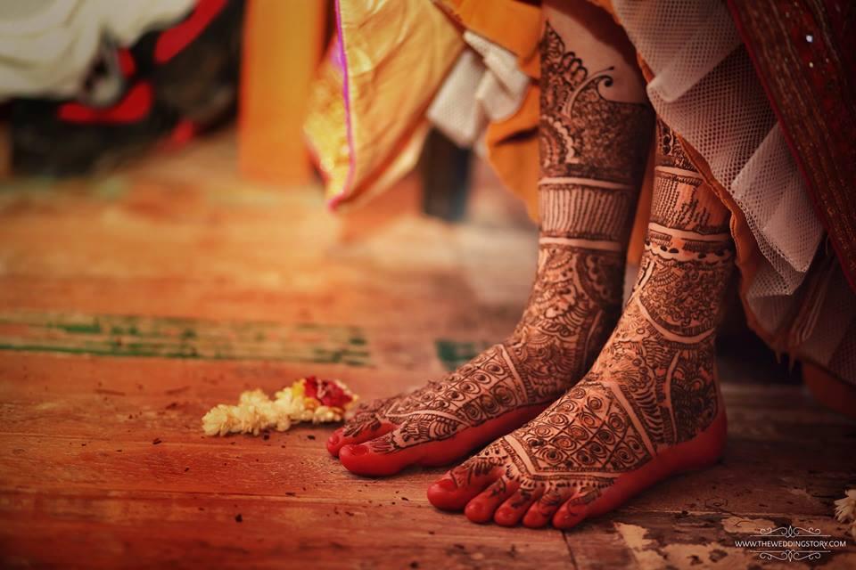 Shweta Pandit Wedding Mehendi Design