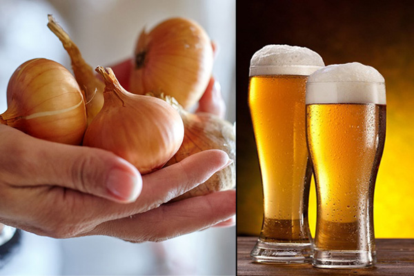 Onion and beer Hair Mask