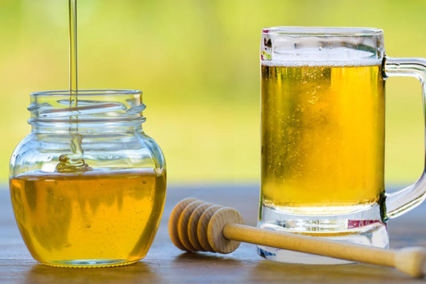 Honey and beer hair mask