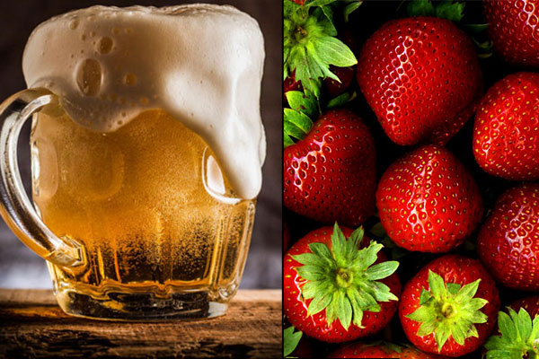 Strawberry and beer hair mask