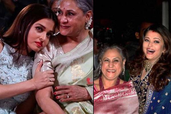 Aishwarya Rai and Jaya Bachchan