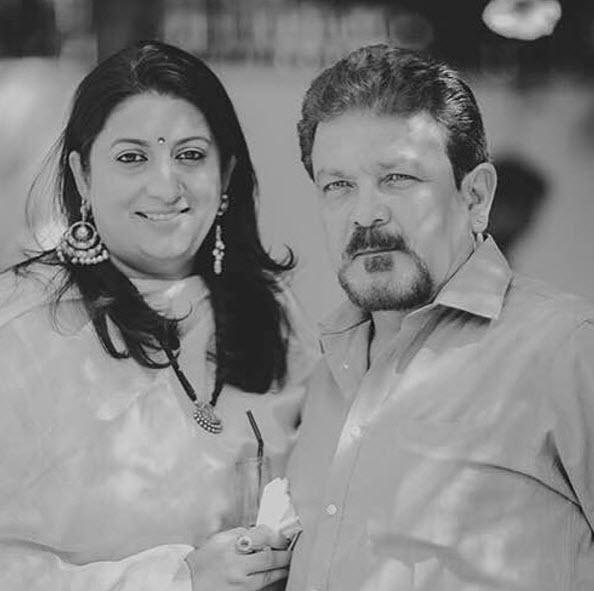Smriti Irani with husband Zubin