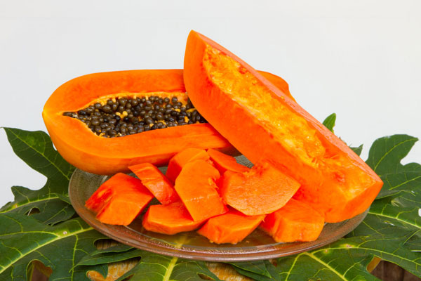 leftover papaya for skin