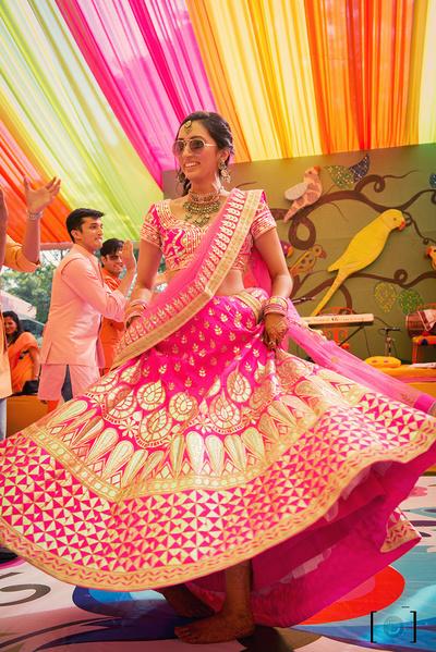 Indian Brides Twirling