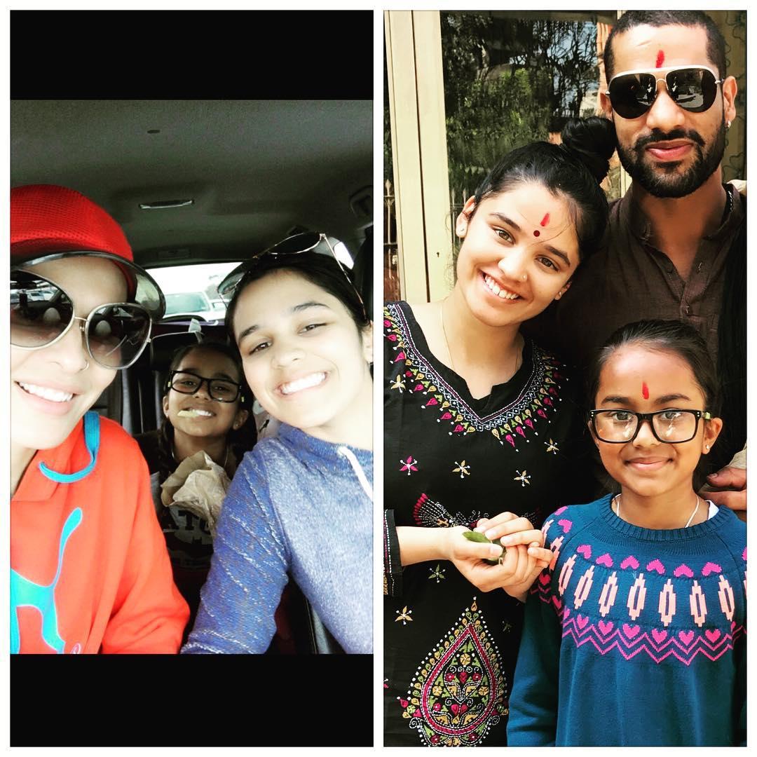 shikhar dhawan family