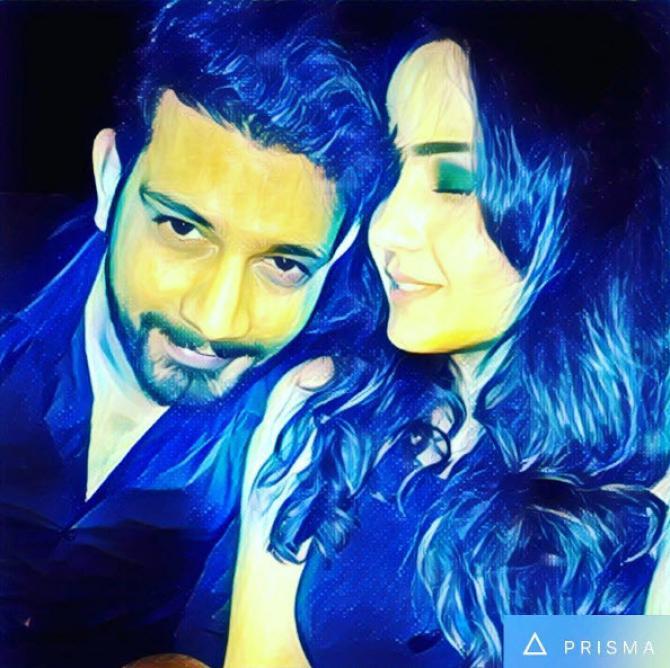 Vineet Kumar Chaudhary and Abhilasha Jakhar engaged