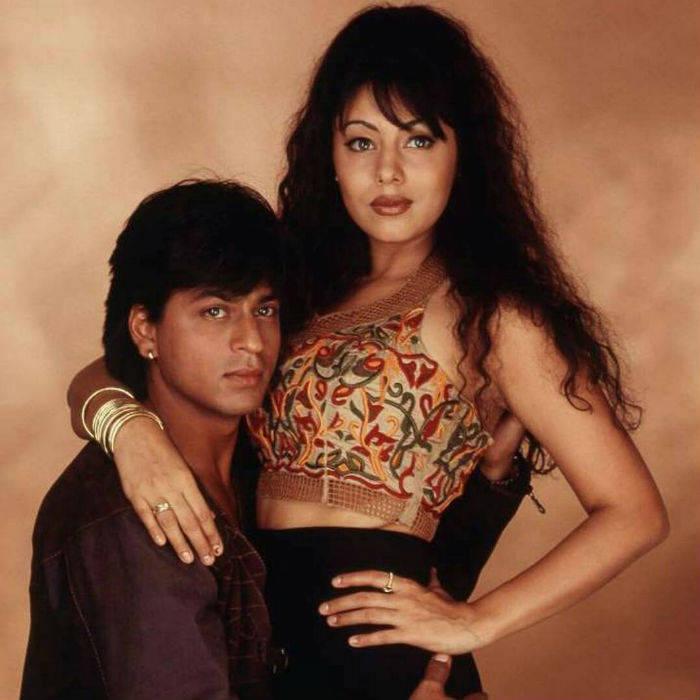 Shah Rukh with wife Gauri