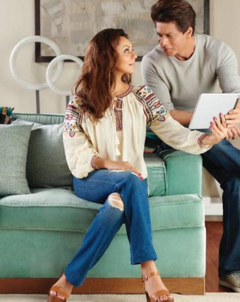 Shah Rukh and Gauri