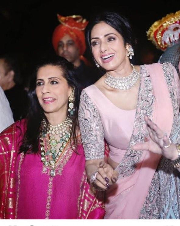 Sunita Kapoor and Sridevi