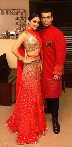 Kiara Advani and Karan Johar