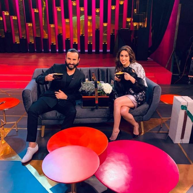 Sara and Saif Ali Khan on Koffee with Karan