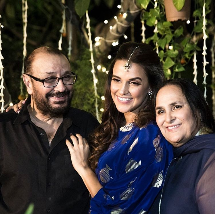 Neha Dhupia And Her Parents