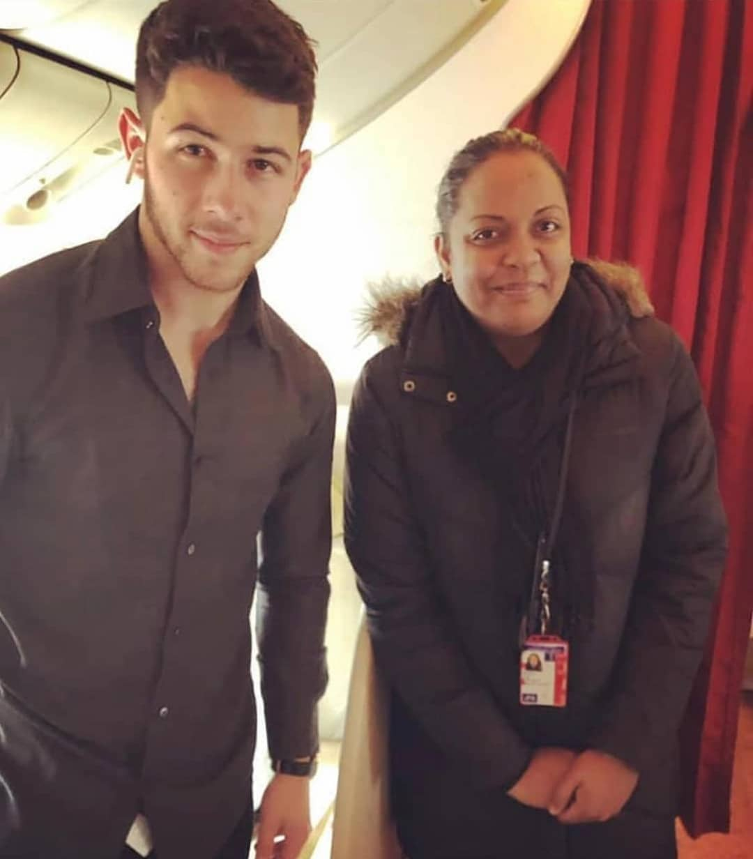 Nick Jonas with a fan