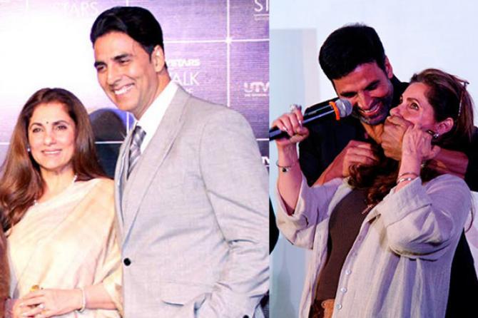 Dimple Kapadia and Akshay Kumar