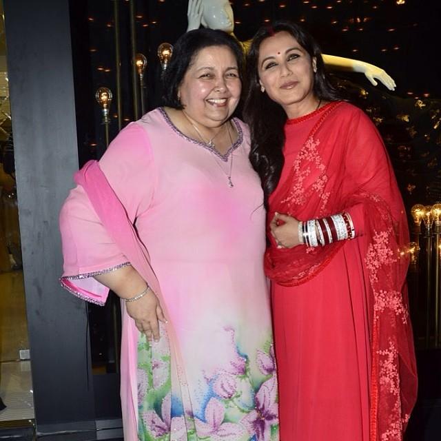 Pamela Chopra and Rani Mukerji