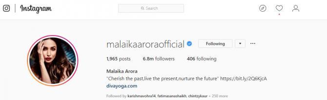 Malaika Arora Khan remove khan from her name