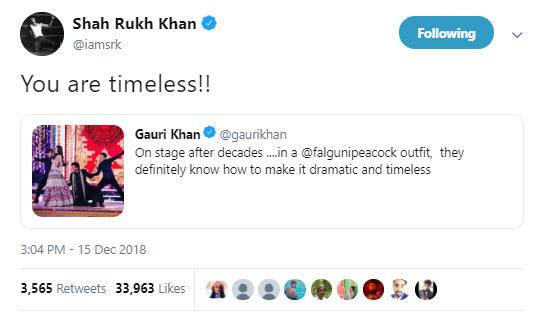 Shah Rukh's tweet for Gauri Khan