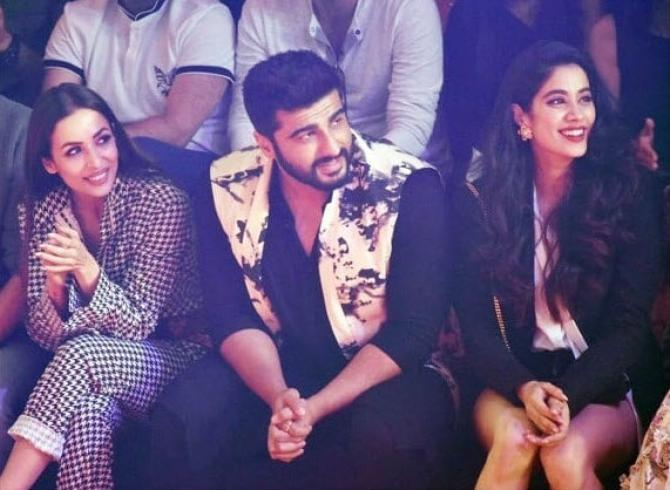 Arjun Kapoor with Malaika Arora at Lakme Fashion Week