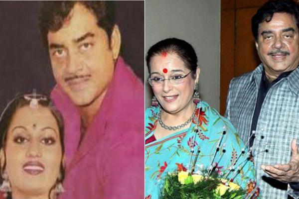 Reena Roy, Shatrughan Sinha and Poonam Sinha