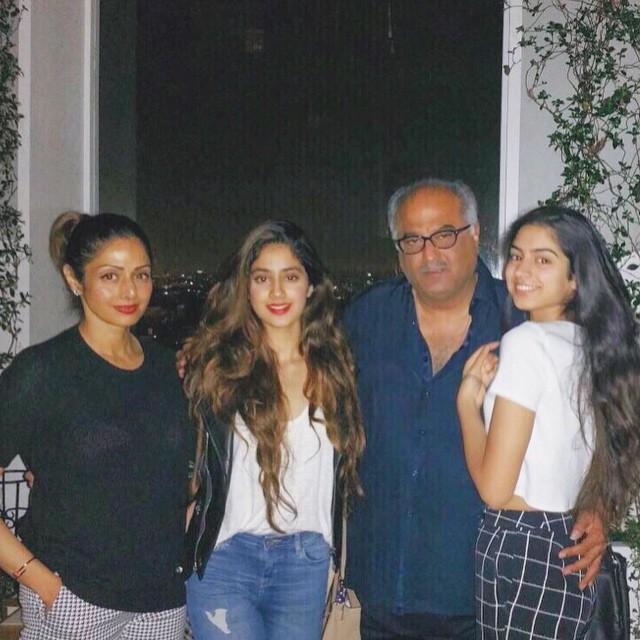 Sridevi, Boney, Janhvi and Khushi Kapoor