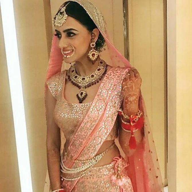TV actresses wedding looks