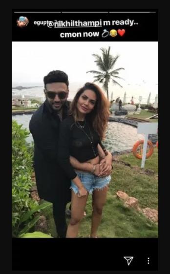 Esha Gupta with Nikhil Thampi
