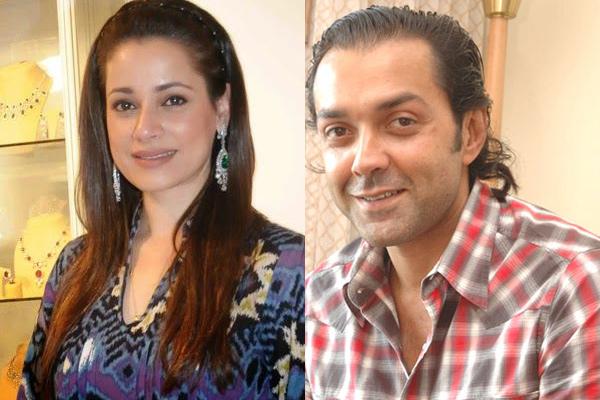 Neelam Kothari Soni and Bobby Deol