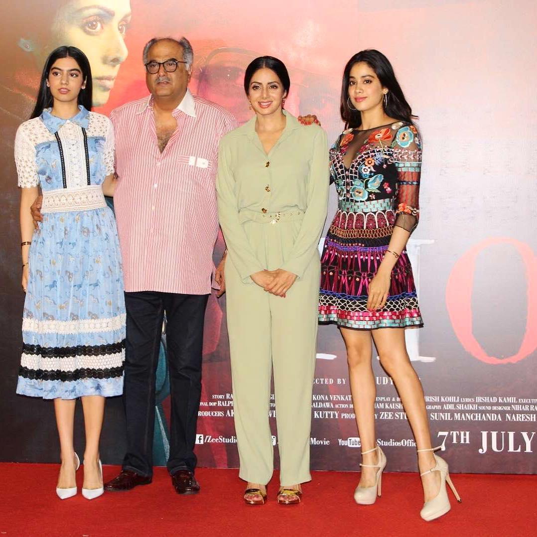 Boney, Janhvi, Khushi On Sridevi's Win