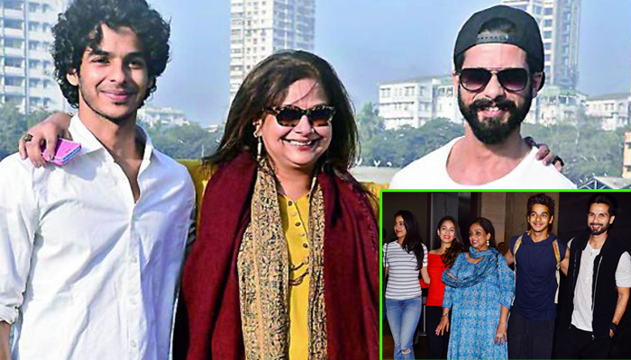Ishaan Khatter, Neelima Azeem and Shahid Kapoor