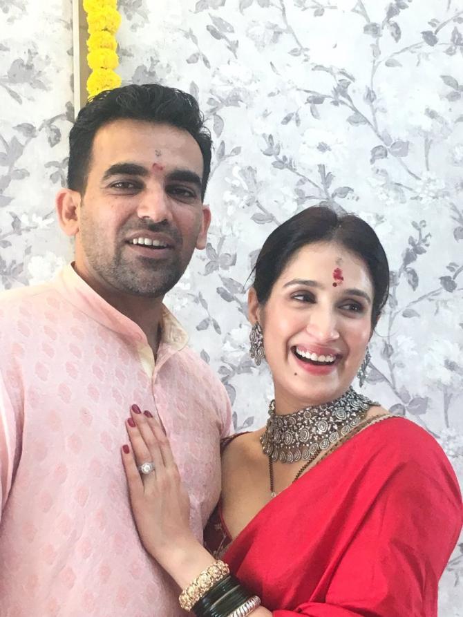 Zaheer Khan and Sagarika Ghatge