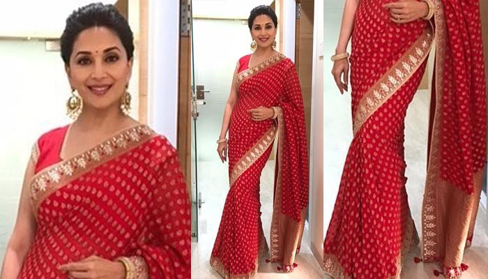 Madhuri Dixit saree looks