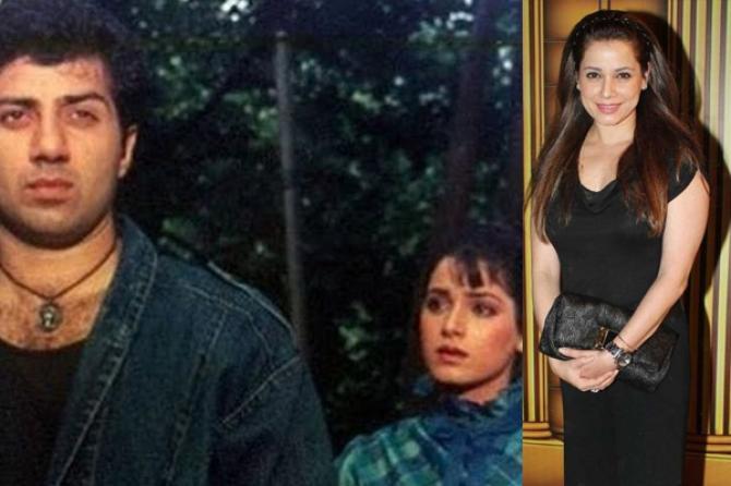 Neelam Kothari Soni and Sunny Deol