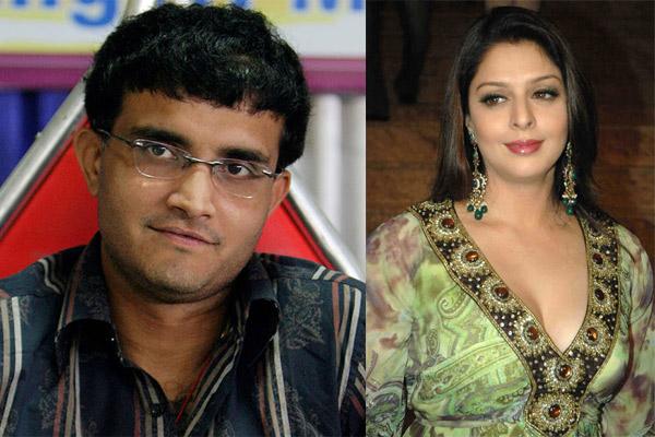 Nagma and Saurav Ganguly